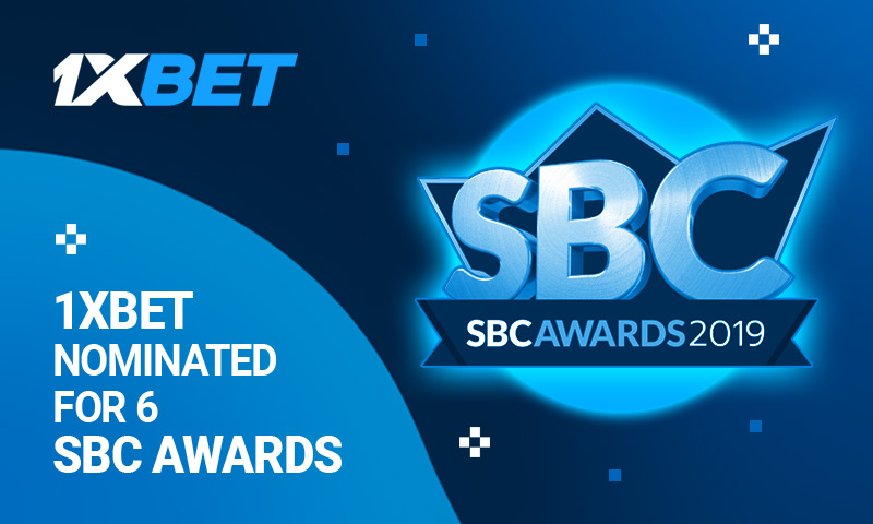 1xBet nominated for 6 SBC AWARDS